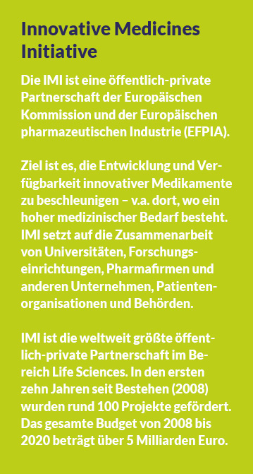 Infokasten: Innovative Medicines Initiative (IMI)